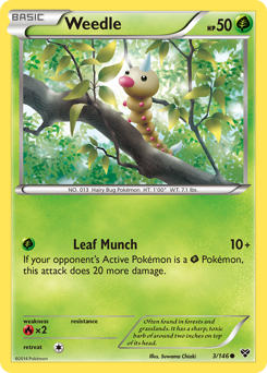 Weedle card for XY