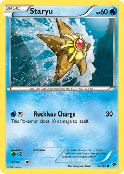 Staryu card for XY