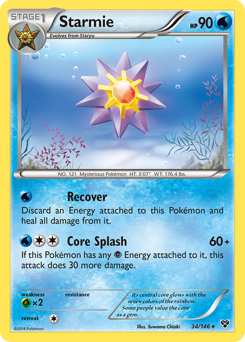 Starmie card for XY