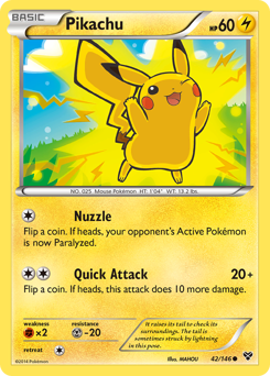 Pikachu card for XY