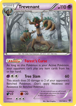 Trevenant card for XY