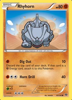 Rhyhorn card for XY