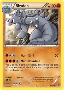Rhydon card for XY