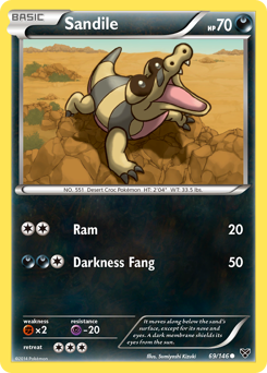 Sandile card for XY