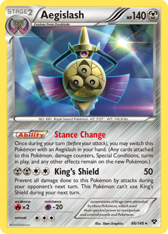 Aegislash card for XY