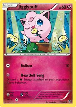 Jigglypuff card for XY