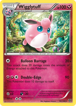 Wigglytuff card for XY