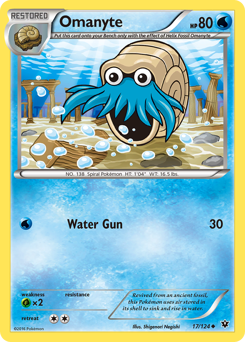 Omanyte card for Fates Collide