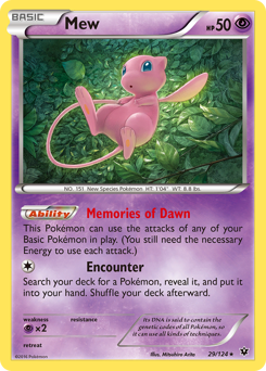 Mew card for Fates Collide
