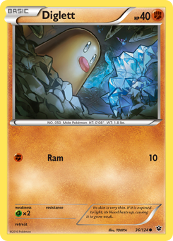 Diglett card for Fates Collide