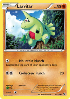 Larvitar card for Fates Collide