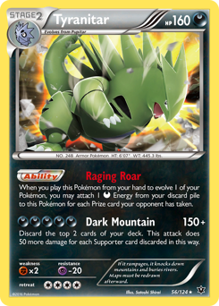 Tyranitar card for Fates Collide