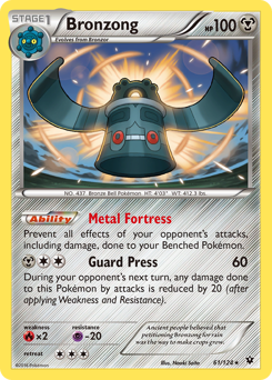 Bronzong card for Fates Collide