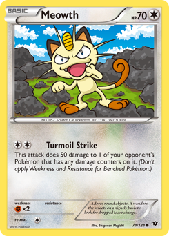 Meowth card for Fates Collide
