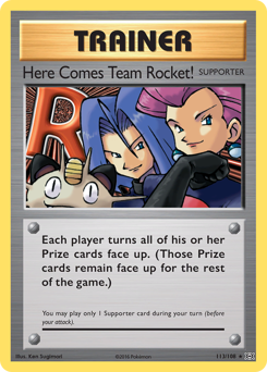 Here Comes Team Rocket! card for Evolutions