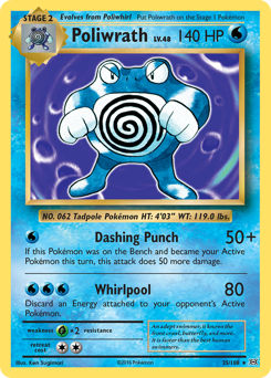 Poliwrath card for Evolutions