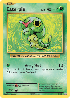 Caterpie card for Evolutions