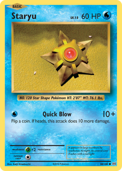 Staryu card for Evolutions