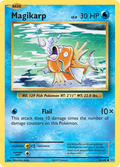 Magikarp card for Evolutions
