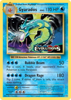 Gyarados card for Evolutions