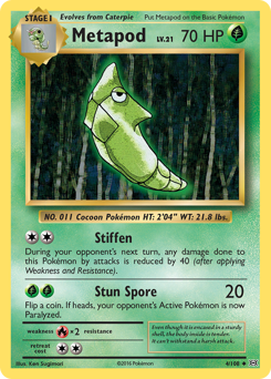 Metapod card for Evolutions