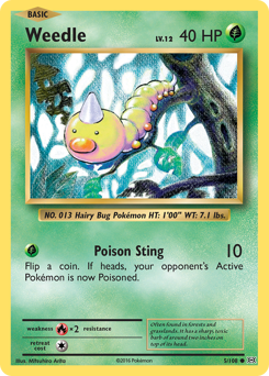 Weedle card for Evolutions