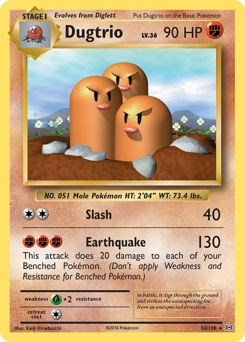 Dugtrio card for Evolutions