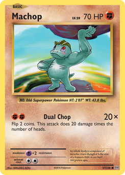 Machop card for Evolutions