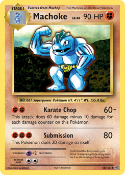 Machoke card for Evolutions