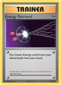 Energy Retrieval card for Evolutions