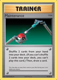 Maintenance card for Evolutions