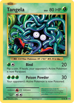 Tangela card for Evolutions