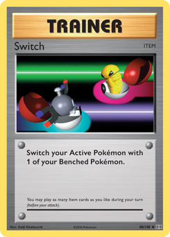 Switch card for Evolutions