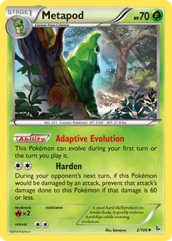 Metapod card for Flashfire