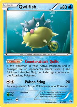 Qwilfish card for Flashfire