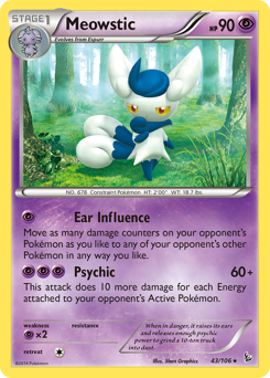 Meowstic card for Flashfire