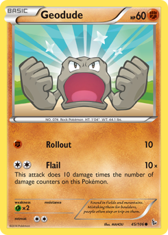 Geodude card for Flashfire