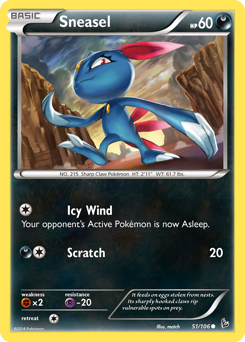 Sneasel card for Flashfire