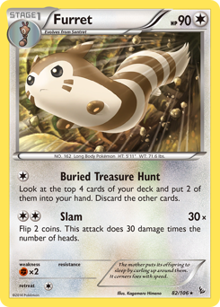 Furret card for Flashfire