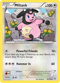 Miltank card for Flashfire