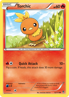 Torchic card for Furious Fists