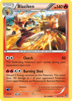 Blaziken card for Furious Fists