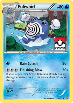 Poliwhirl card for Furious Fists