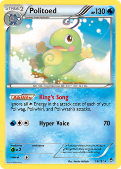Politoed card for Furious Fists