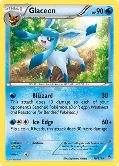 Glaceon card for Furious Fists
