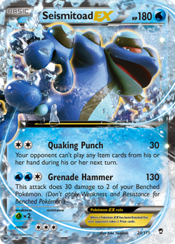 Seismitoad-EX card for Furious Fists