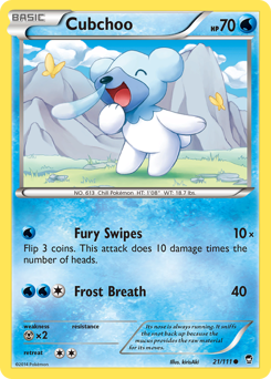 Cubchoo card for Furious Fists