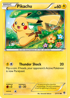 Pikachu card for Furious Fists