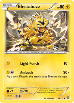 Electabuzz card for Furious Fists