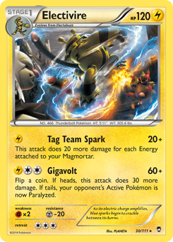 Electivire card for Furious Fists